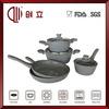 8pcs pink color aluminum non-stick cookware sets