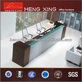 Moderno diseño de melamina mesa de recepción/recepción/banco hx-rt801 contador