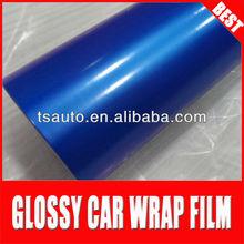 TSAUTOP ROHS certificate 1.52*30m air Free bubbles glossy pearl blue car paint membrane