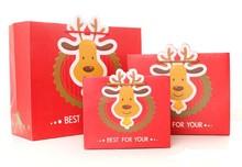 2014 cheap unique diecut fancy new design christmas gift shopping paper bag