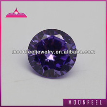 Round Brilliant cut violet c.z.