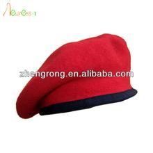 2014 moda militar boina vermelha