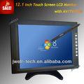 12 polegadas monitor de tv lcd preço feitos em china com bnc vga av