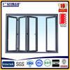 china top brand aluminium clad wood folding door with clear glazed