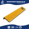 De fibra de vidrio de la escalera husmeando / de carburo de silicio de la escalera antipatinaje peldaños de calzado con Base de acero