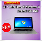 14 inch OEM Ultrabook Laptop i7 Processor 2GB RAM 1TB HDD Windows 8 English