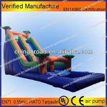 Durable swimming pool slide,inflatable slide way/wet slide/pool slide