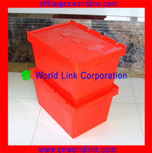 340mm Height Stacking 65L Moving Sawtooth Plastic Case