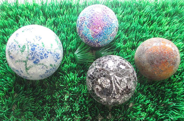 jardim quintal grande:prateado jardim quintal decoração de vidro bola de mosaico grande