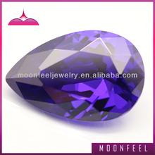 loose violet zircon gemstone pear cut for earring