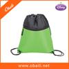 210D Polyester Drawstring Backpack Bag With Front Zipper Pocket / Sport Gym Bag