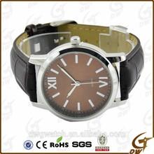 wholesale hot sale leather strap fashion man watch