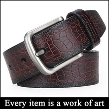 Wholesale crocodile men genuine leather belt SZ-MS241