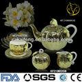banquetes estilo árabe louça cerâmica tea set para atacado