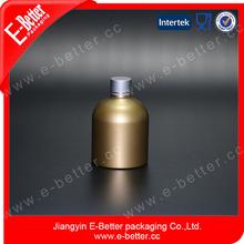 golden dump promoion 250ml aluminum body lotion bottle with screw cap