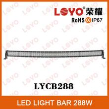 Hotsale 50inch chips waterproof flood spot combo beam, 288w offroad led light bar, sxs led light bars