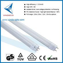 GS T8 led tube 18W 110lm/w CRI 80 led tube CE RoHS GS certification