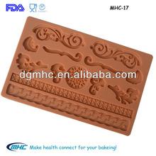 Popular dessert decor silicone molds for cake decoration