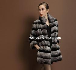 rex14026 rex rabbit chinchilla fur coat for sale