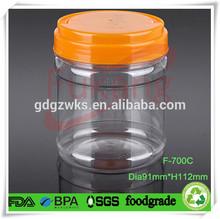 700ml PET craft storage plastic containers,wholesale plastic toy gift storage container box