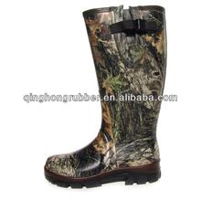 Good Quality Neoprene Lining Camo Waterproof Hunting Rain Boots