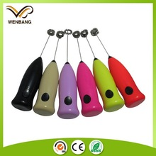 handheld electric automatic milk frother with Stainless steel spring