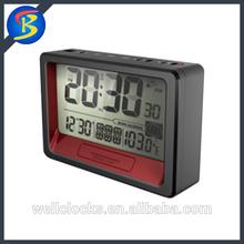 LCD Display Digital Radio Controlled Desktop Alarm Clock With Snooze Function