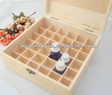 wooden essential oil box with compartments for essential oil bottles