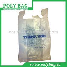 China supplier plastic bag t-shirt bag for shopping