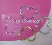 heart shape remove glue from glass adhesive crystal/self adhesive crystal