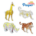 Painting cardboard animals puzzles small toys for kids