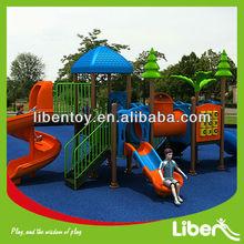 playground tube spiral slide china,fashion design jungle plastic outdoor playground equipment set LE.ZI.012