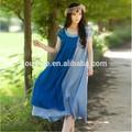 Jiqiuguer 2015 été, peuple libre féminine's coton plissé robe bohème