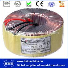 200VA 600VA toroidal power transformer 220v 24v