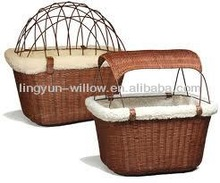 2015 New Wholesale bicycle basket for dogs,pet basket weave,rear bike basket