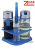 4pcs glass cruet set with plastic rack