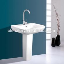 ceramic pedestal basin bathroom sink sanitaryware