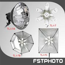 Five heads fluorescent light lamp holder