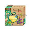 Nova chegada de madeira puzzle cube 6 em 1 para crianças- 9 cubos 6 imagens diferentes