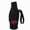 neoprene black bottle sleeve with handle