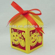Halloween supply: Laser cut pumpkin cake box