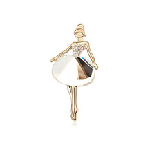 11473 promotion zircon crystal brooch