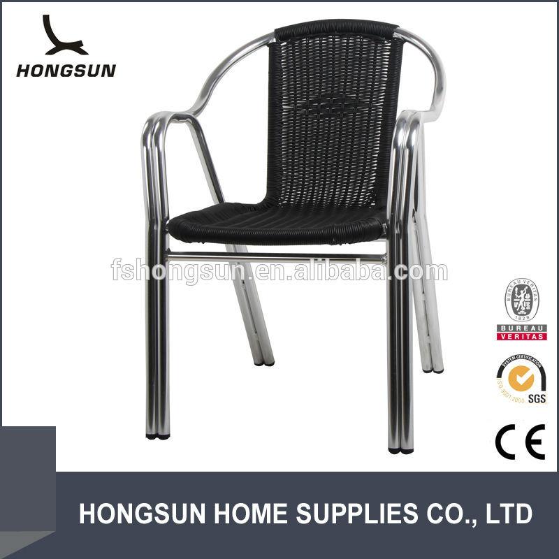 All Weather Black Rattan Outdoor Beach Cast Aluminium Chair