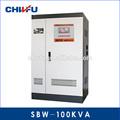 Ce y rohs aprobados 100 kva plena compensación automática de voltaje estabilizador de servo motor eléctrico/reguladores de voltaje
