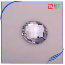 High quality flat round clear wholesale glass cabochon