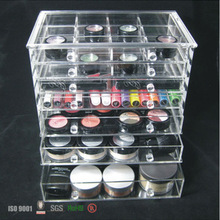 acrylic 7 drawer counter top makeup organizer beauty product storage drawer