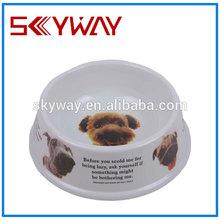 China supplier pet bowls single ceramic melamine dog bowl