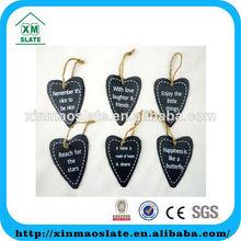 wholesale natural slate heart DP-12P708P9HG2AP