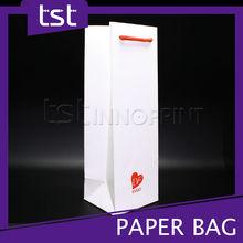 Premium White Cardboard Paper Wine Bag