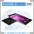 بوصة 5.5 kingzone k1 mtk6592 1.7 ثماني الأساسية 3g غيغاهرتز اللاسلكي شحن الهاتف المحمول الروبوت الهاتف اللاسلكي مجانا 4.3.9 nfc القضية